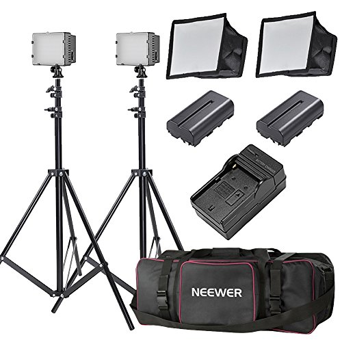 Neewer 160 LED light kit Dimmable Ultra High Power Panel Digital Camera/Camcorder Video Kit (2-Pack) (Led Light Panel compare prices)