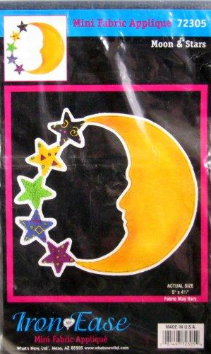 Iron Ease Mini Fabric Applique: Moon & Stars