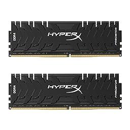 Kingston Technology HyperX Predator Black 16GB 3200MHz DDR4 CL16 DIMM XMP Desktop Memory HX432C16PB3K2/16
