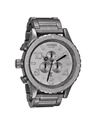 Nixon Men's A083-1033 Stainless Steel Analog with Silver Dial Watch