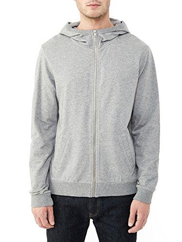 Alternative Men's Eco Micro Fleece Hideaway Zip Up Hoodie, Heather Grey, Large (Alternative Zip Up Hoodie compare prices)