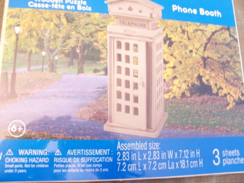 Creatology Wooden Puzzle ~ Phone Booth