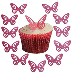 Butterfly Cake Decoration Uk : Toppercake Edible Wafer Butterfly Cup Cake Decorations ...