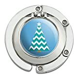 Weihnachtsbaum Chevrons blau faltbar Tisch Tasche Geldbörse Caddy Handtasche Aufhänger