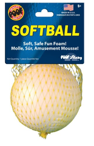 Poof-Slinky - 3.5-Inch Foam Softball, Assorted Colors, 150Bl