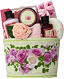 Art of Appreciation Gift Baskets Mum's English Rose Garden Spa Bath and Body Gift Set