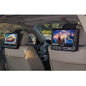 tfy car headrest mount for sylvania sdvd9805. Black Bedroom Furniture Sets. Home Design Ideas