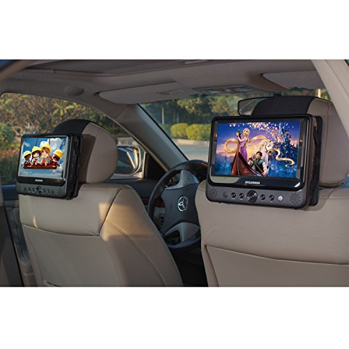 TFY Car Headrest Mount for SYLVANIA SDVD9805 Portable DVD Player - 2 Pieces beige dual dvd usb sd car headrest monitors lcd display digital screen dvd player headrest 2video game control 2ir headphones