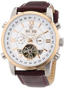 Constantin Durmont Calendar - Reloj analógico de caballero automático con correa de piel marrón - sumergible a 30 metros de Constantin Durmont