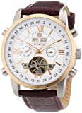 Constantin Durmont - CD-CALE-AT-LT-STRG-WH - Montre Homme - Automatique Analogique - Bracelet Cuir Marron