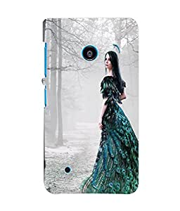Fuson 3D Printed Fantasy Girl Designer Back Case Cover for Nokia Lumia 530 - D869