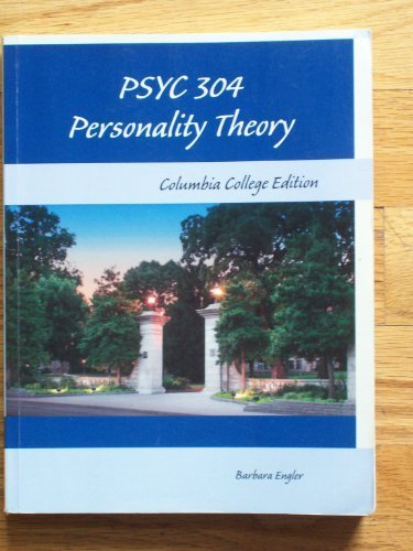 Personality Theory, by Barbara Engler