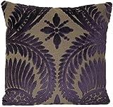 Purple Velvet Cushion Cover Floral Design Decorative Pillow Case Osborne and Little