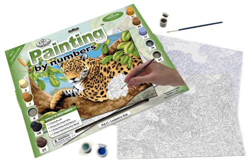 Royal & Langnickel Painting by Numbers Junior Large Art Activity Kit, Leopard In Tree - 1