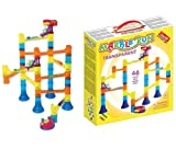 Quercetti 45-Piece Transparent Marble Run - Marble Run Construction Toy