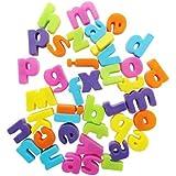 40 Mini Alphabet Letters Fridge Magnets - Multicolured