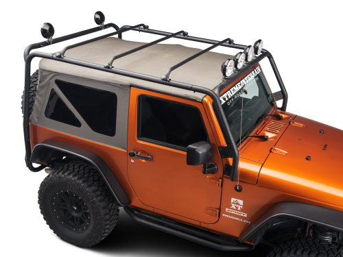 Barricade J100174 Roof Rack Textured Black (Jeep Roof Rack Wrangler compare prices)