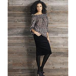 Newport Jeanology Stretch velvet pencil skirt