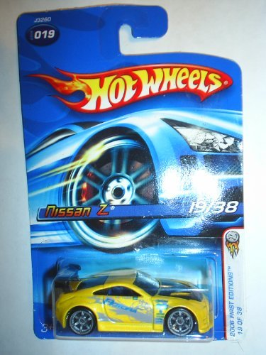 Mattel Hot Wheels 2006 First Editions 1:64 Scale Yellow Nissan Z Die Cast Car #019 - 1