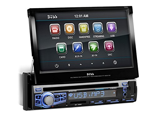 BOSS AUDIO BV9976B Single-DIN 7 inch Motorized Touchscreen DVD Player Receiver, Bluetooth, Wireless Remote (Ford Escape 2005 Radio compare prices)