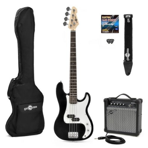 Electric G-4 Bass Guitar  &  Amp Pack Black