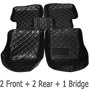 BESTEK Custom car floor mat car liner car carpet all weather floor liner for Chevrolet Malibu mat BTSM07-Black