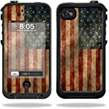 Mightyskins Protective Vinyl Skin Decal Cover for LifeProof iPhone 4 / 4S Case wrap sticker skins Vintage Flag