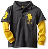 U.S. POLO ASSN. Boys 2-7 Slider Polo