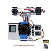Andoer 2D Light Weight Silver Brushless Motor Gimbal for DJI Phantom 1 2 3+ Aerial Photography