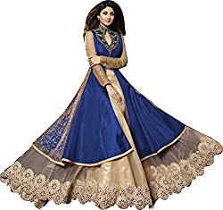 Orange Fab Women's Silk Lehenga Choli (OF115-Karma-7020DB_Dark Blue and Gold_42)