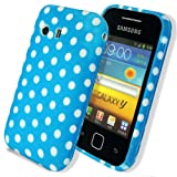 Cut Price Accessories Samsung Galaxy Y S5360 Polka Dot Gel Case / Blue & White