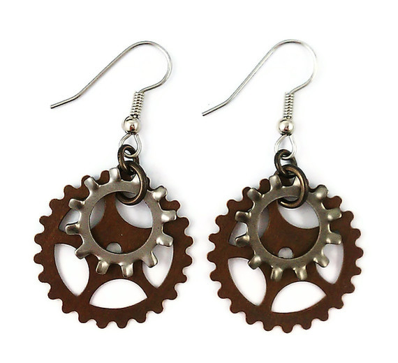 Industrial Gothic Steampunk Earrings