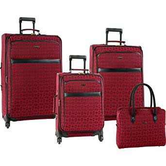 Pierre Cardin Luggage Revolution 4 Piece Set, Burgundy, One Size