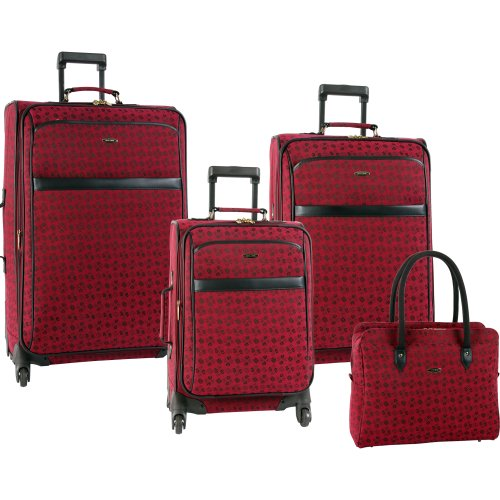 Pierre Cardin Luggage Revolution 4 Piece Set, Burgundy, One Size special discount