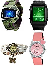 Pappi Boss Analogue-Digital Multi-Colour Dial Women's Watches -stylish analog and digital wrist watches