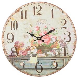 Decorazione shabby chic orologio da parete stile vintage for Orologi da parete vintage