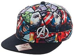Marvel Avengers and Superman Logo Sublimated Adjustable Snapback Cap (Marvel Avengers)