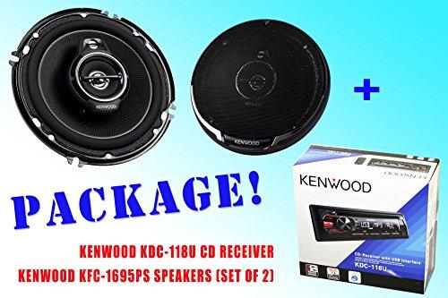 Package ! Kenwood Kdc-118U Cd-Receiver + Kenwood Kfc-1695Ps Car Speakers