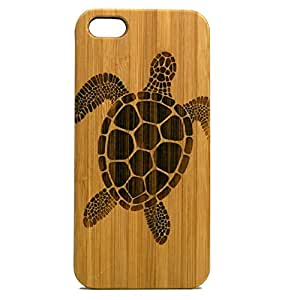 Sea Turtle iPhone 5 5S Case. Tribal Tattoo Ocean Sea Hawaiian Honu. Eco-Friendly Bamboo Wood Cell Phone Cover.