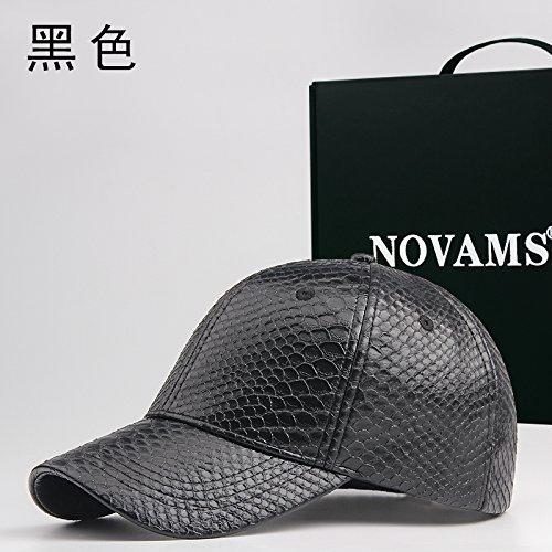 FQG*L'autunno inverno trendy snakeskin cappello da baseball) hanno raggiunto un picco hat uomini e donne con una confezione regalo , nero
