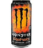 Monster Rehab Energy Drink, Orangeade, 15.5-Ounce Cans (Pack of 12)