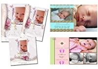 Children Birth Announcements PSD Photoshop Templates from ABUNIVERSAL