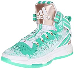 adidas Performance Men\'s D Rose 6 Boost Basketball,Shock Mint/Copper/White,12 M US