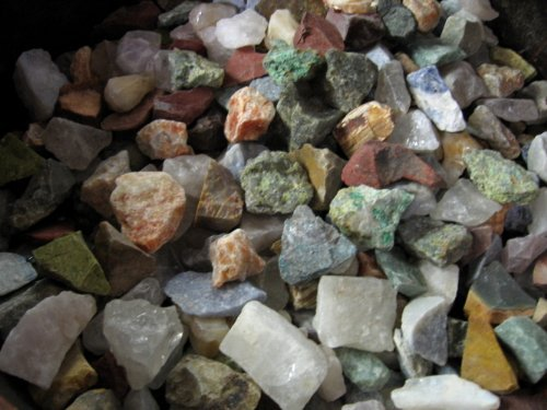 Madagascar Rough Cut Tumbled Raw Stone Mix Fountain Rock One Pound (Petrified Wood Tray compare prices)
