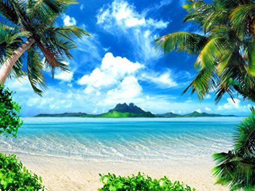 playas-idyllic-paradise-with-palm-trees-4-parts-poster-fotomural-360-x-255cm