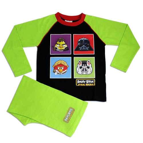 Character Boys' Angry Birds Star Wars Pajamas 4 Square Size 6