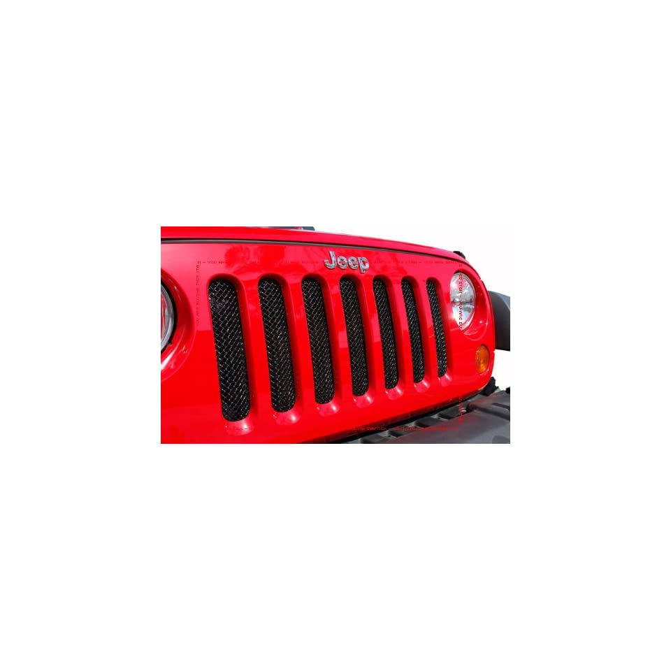 2007 2012 JEEP WRANGLER BLACK MESH GRILLE GRILL