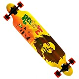 New Cruiser Through 9.5x42 Longboard Skateboard Complete