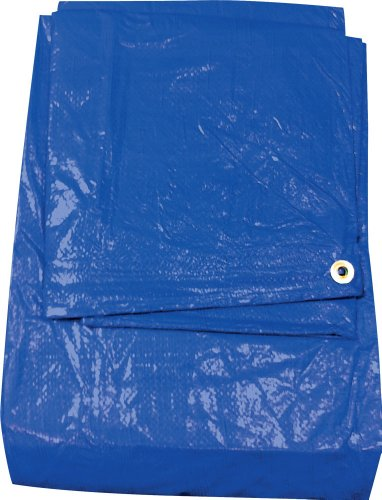 38ft x17ft Blue 6-mil Waterproof Poly Tarp Camp Tarp Tarpaulin for Camping Tent Shelter Shade Canopy