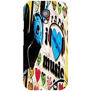 Motorola Moto G (2nd Gen) Back Cover - Musical Fondness Designer Cases